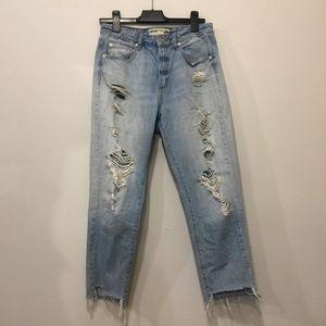 Garage Distressed Boyfriend Jeans size 9